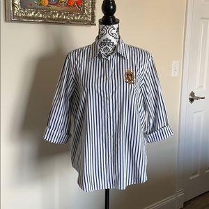 Lauren Ralph Lauren Striped Button Down Shirt XL